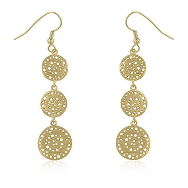 Kate Bissett E01790G-V00 Golden Filigree Circle Earrings