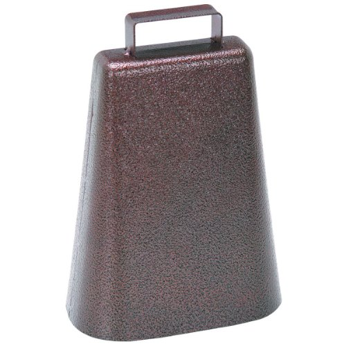 7 Inch Steel Cow Bell with Handle and Antique Copper Finish by Harbor Freight Tools
