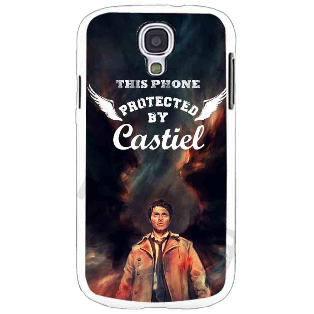 Ganma Protected By Castiel Angel Supernatural Case For Samsung Galaxy Case (Case For Samsung Galaxy S5 White)