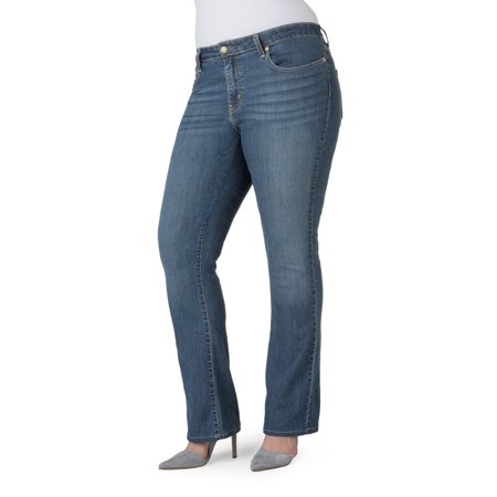 51a3b2c94af Signature by Levi Strauss   Co. - Women s Plus Modern Bootcut Jeans -  Walmart.com