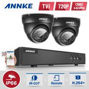 Annke 4Channel HD-TVI 1080P Lite Video Security System DVR and 2 Indoor/Outdoor Weatherproof  Cameras with IR Night Vision LEDs(0-NO HDD,1-1TB HDD)