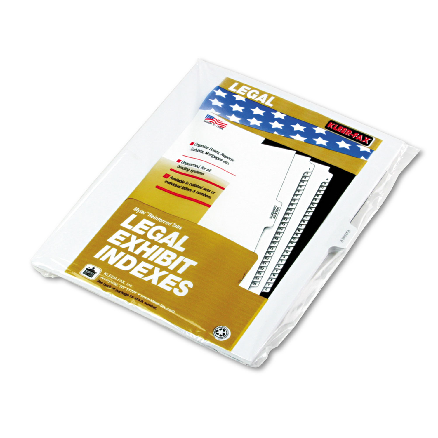 """90000 Series Legal Exhibit Index Dividers, 1 10 Cut Tab, """"Exhibit E\ by Kleer-Fax"""