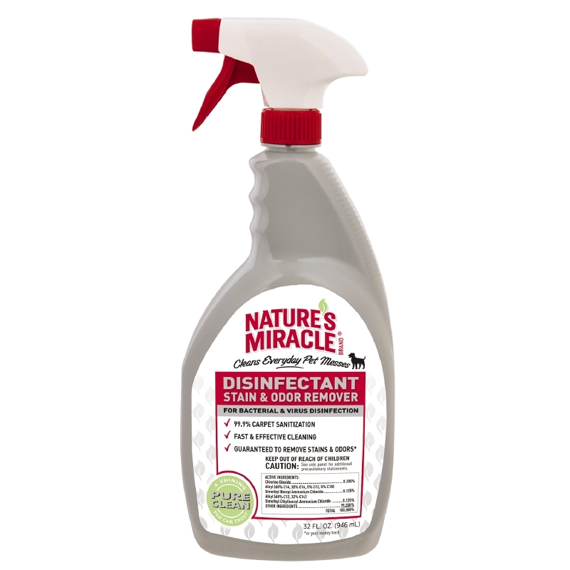 Nature's Miracle Disinfectant Stain & Odor Remover Spray, 32 oz