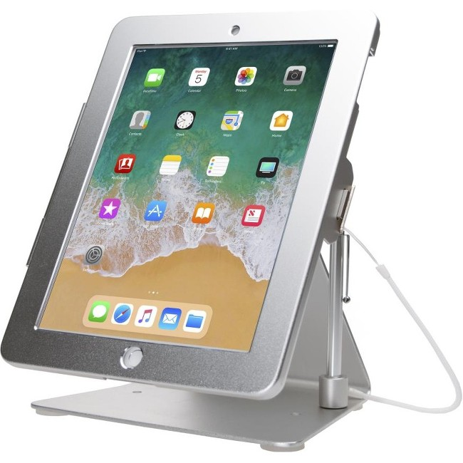 CTA Digital Desktop Rotating Anti-Theft Stand for iPad Air - Silver