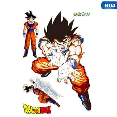 KABOER Kawaii Dragon Ball Z Goku Cartoon 3D Kids Anime Wall Stickers Vinyl Decal Decor Mural  Poster DIY Gift Drop Shipping 10 Styles!! (Car Decals Dragon Ball Z)
