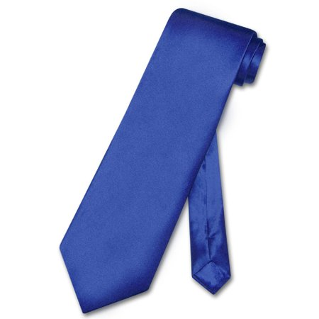 Circular Silk Tie - Biagio 100% SILK NeckTie Solid ROYAL BLUE Color Men's Neck Tie