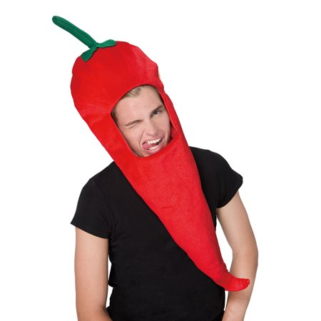 Novelties Chili Pepper Plush Costume Hat For Funny Costume Party Dress up