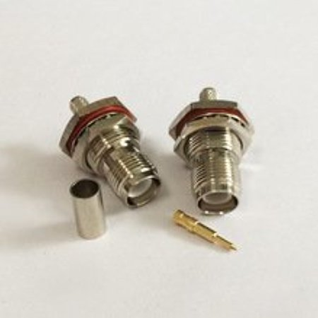 - RP TNC Female Connector male pin crimp For RG58 RFC195 Cable straight type Ships Quickly From USA