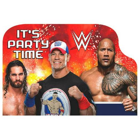 WWE Wrestling Bash Invitation Set w/ Envelopes (8ct)](Wwe Party Invitations)
