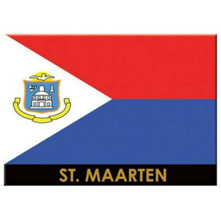 St.Martin/St.Maarten Flag Caribbean Fridge Collector's Souvenir Magnet 2.5 inches X 3.5