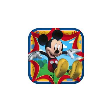 Disney Mickey Fun and Friends Square Dinner Plates - Halloween Dinner Ideas For Adults