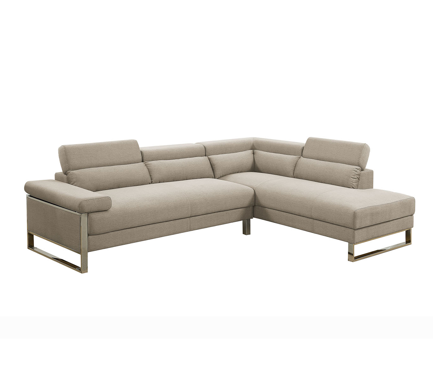 Bobkona Cerviel Glossy Polyfabric Sectional Set in Charcoal. by Poundex