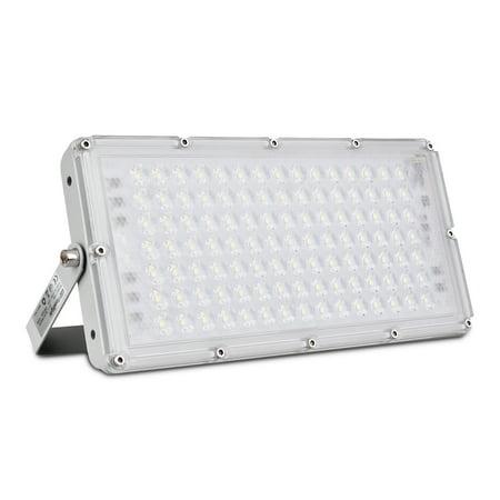100W LED Flood Light, 8000LM 3000K Warm White, Slim Outdoor Floodlight, IP65 Waterproof Security Lights, Landscape Wall Lights for Garage, Garden, Lawn, Yard,