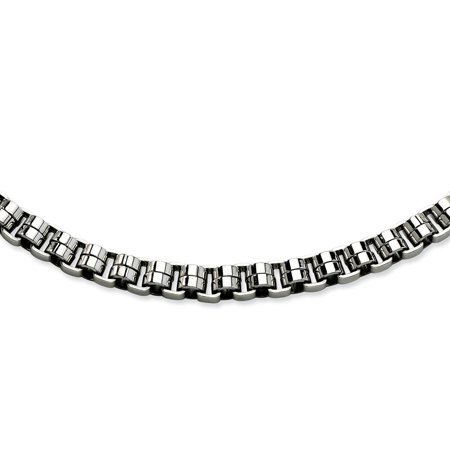 "Stainless Steel Circular Links 24in Necklace Chain 24"" - with Secure Lobster Lock Clasp (8mm)"