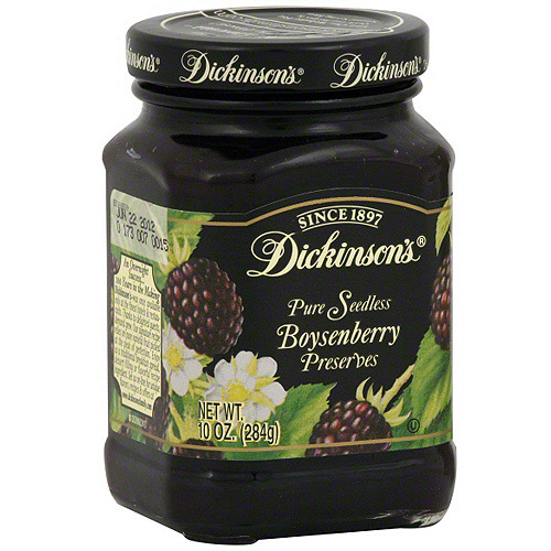 Dickinson's Pure Seedless Boysenberry Preserves, 10 oz (Pack of 6)