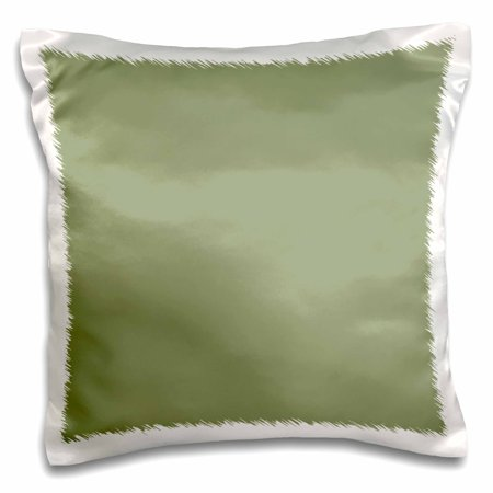 3dRose Moss Green - greenish grey gray - muddy plain simple one single solid color - brown-green sage - Pillow Case, 16 by 16-inch Cottage Classic Sage Green