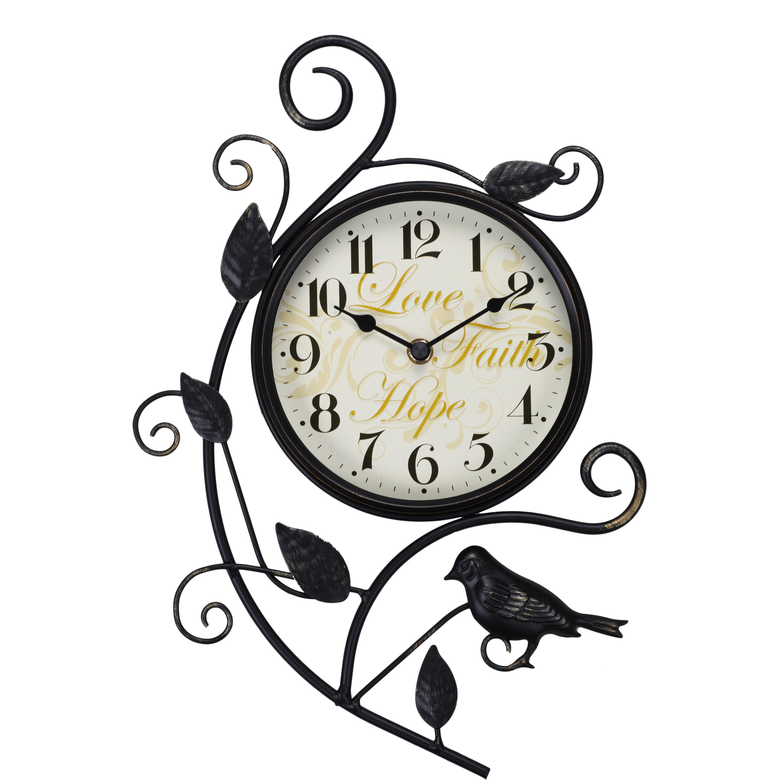 """Better Homes and Gardens 15.25"""" Bird Wall Clock"""