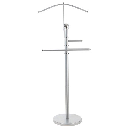 StorageMaid Metal Suit Valet Rack - Gorgeous Chromed Metal with Finished Detail – Best Organization Solution For Bedrooms, Master Closets, And Dorm Rooms - Prime Gift Idea For