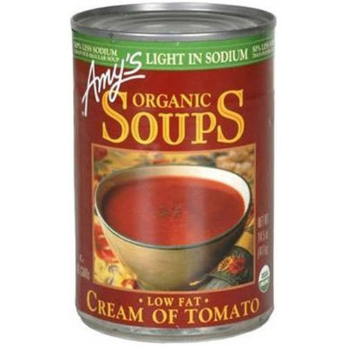 Amy's Organic Soups Low Fat Cream of Tomato Soup, 14.5 oz, (Pack of 12) by