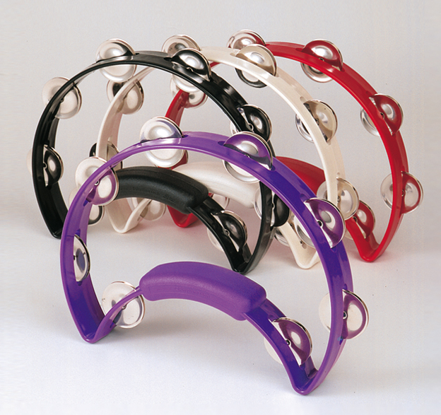 The Rhythm Tech Solo Tambourine-Color:Red