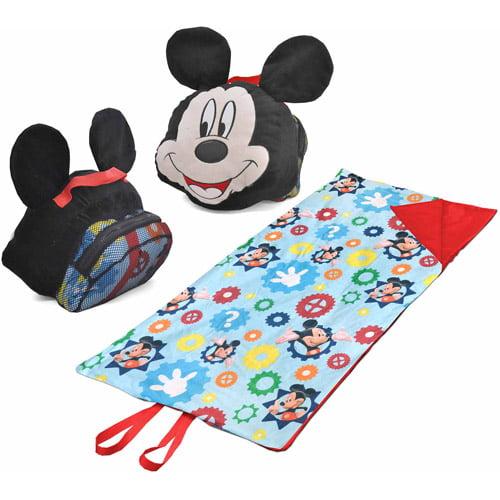 Disney Mickey Mouse Slumber Set Nap Mat With Bonus Sling
