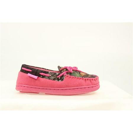 Canoe Moccasin - Blazin Roxx 5756230-M Youth Girls All Weather Camo Moccasins, Pink - Medium