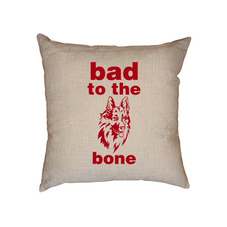 Bad To The Bone - Cool Dog Decorative Linen Throw Cushion Pillow Case with Insert