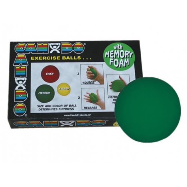 Fabrication Enterprises 10-0778-12 3.5 dia. Cando Memory Foam Hand Ball, Green, Medium - Pack of 12