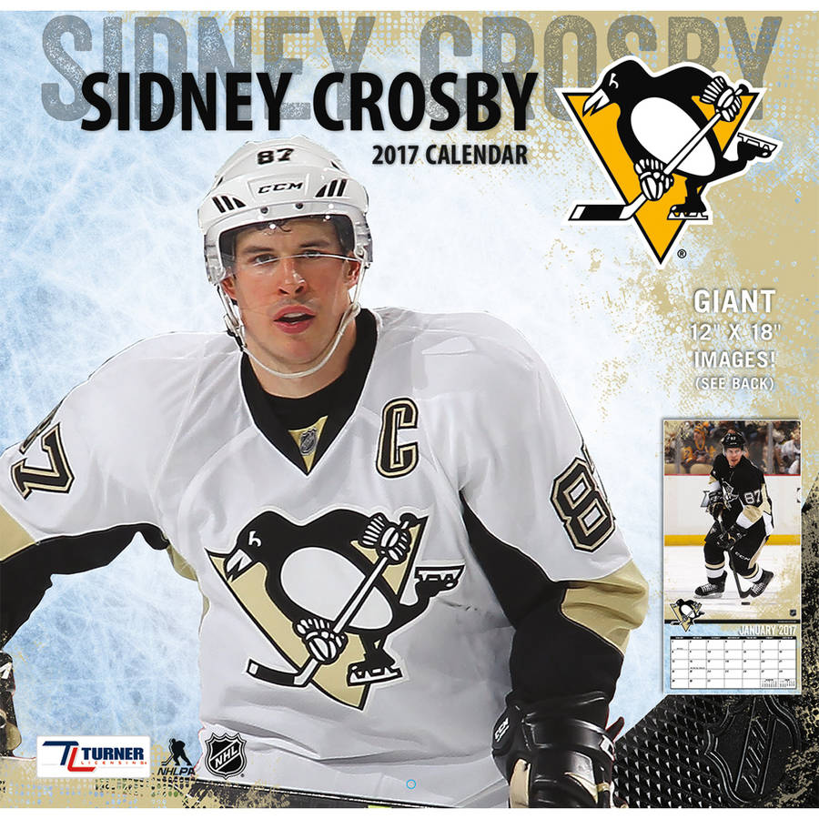 "Turner Sports 2017 12"" x 12"" Player Wall Calendar, Pittsburgh Penguins Sidney Crosby 17998011791"