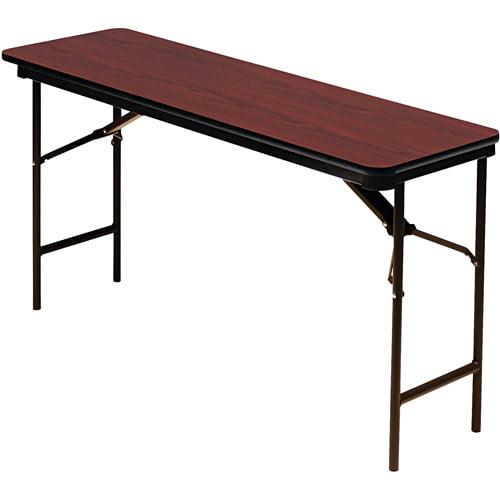 Iceberg Premium Wood Laminate Folding Table, Rectangular