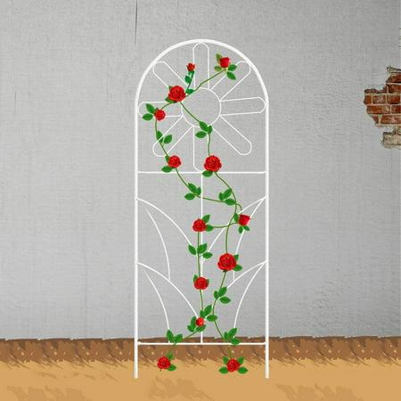 Mr.Garden Garden Sunflower Trellis Plant Fence Grid Panels for Climbing Plants Potted Vines 48