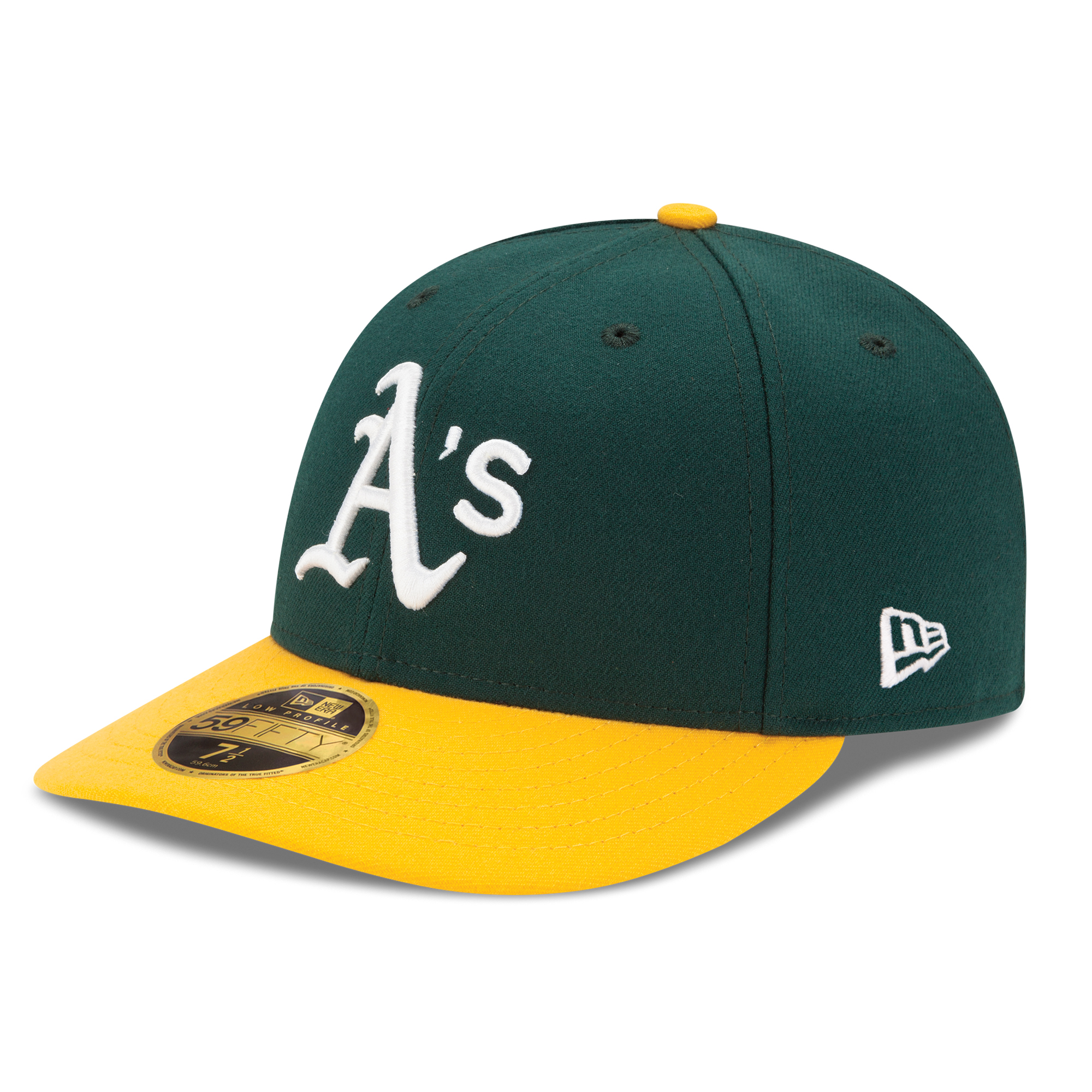 Oakland Athletics New Era Home Authentic Collection On-Field Low Profile 59FIFTY Fitted Hat - Green/Yellow