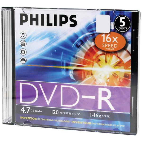 Brand New 4.7GB DVD-R SLIM CASE 5PK