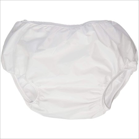 American Baby Company Dappi Waterproof 100% Nylon Diaper Pants, 2 Pack, White, Small Small Cloth Diaper