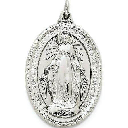 925 Sterling Silver Miraculous Medal - image 2 de 2