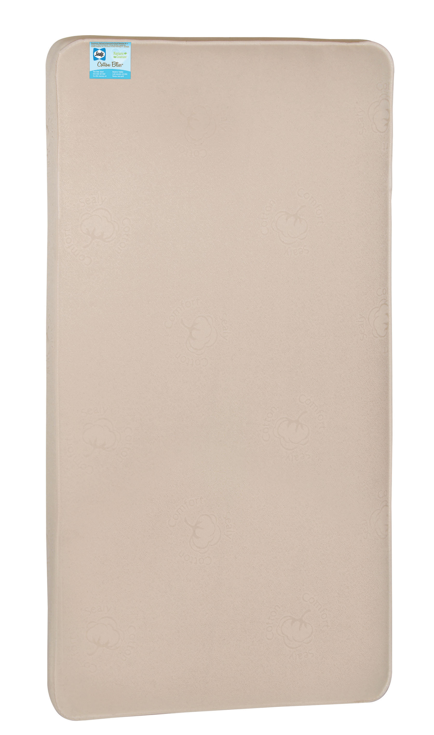 Click here to buy Sealy Nature Couture Cotton Bliss 2 Stage Infant-Toddler Crib Mattress by Sealy.