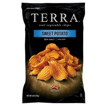 (3 Pack) TERRA Sweet Potato Chips with Sea Salt, 6 oz.