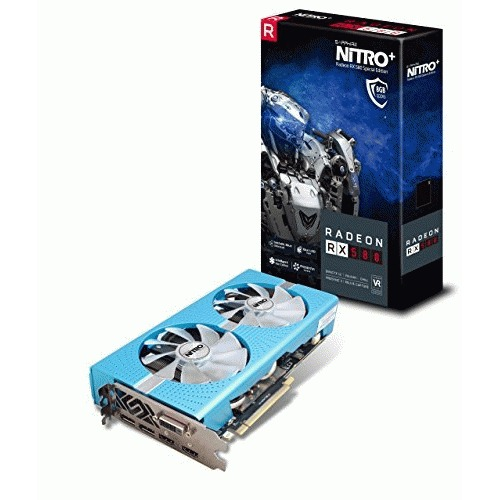 Sapphire Radeon NITRO+ RX 580 8GB GDDR5 DUAL HDMI / DVI-D / DUAL DP w/ backplate SPECIAL EDITION (UEFI) PCI-E Graphic Cards - 11265-21-20G - Gaming Bundle Included