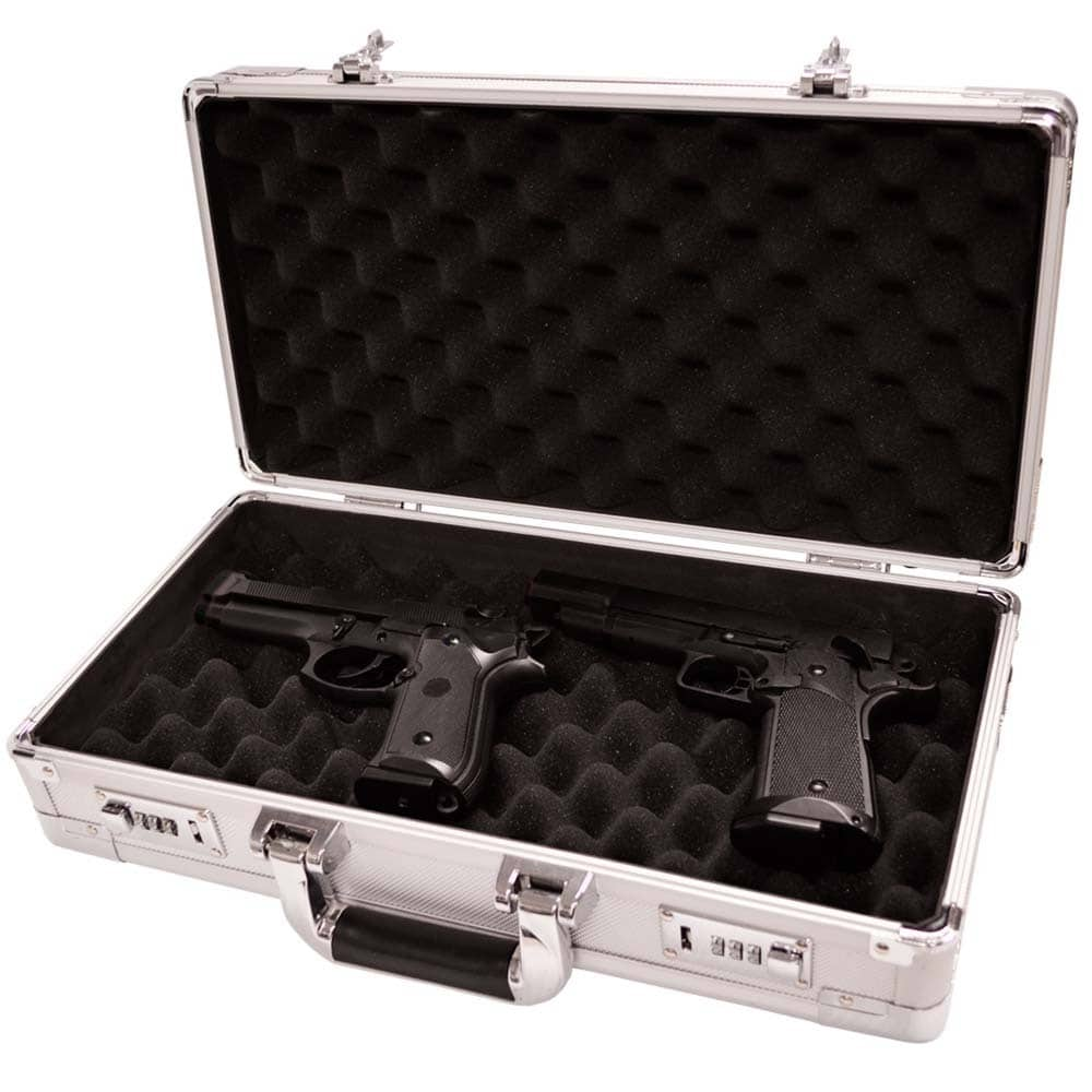 North American Tool Industries Magnum Silver Pistol Case