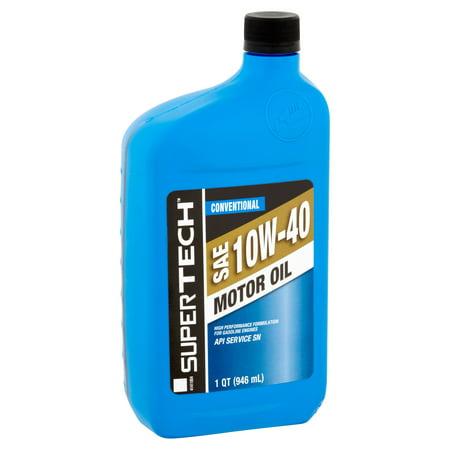 Supertech 10w40 motor oil 1 quart for 3 in one motor oil