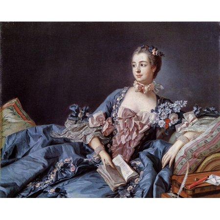 Framed Art for Your Wall Boucher, François - Portrait of Madame de Pompadour [1] 10 x 13