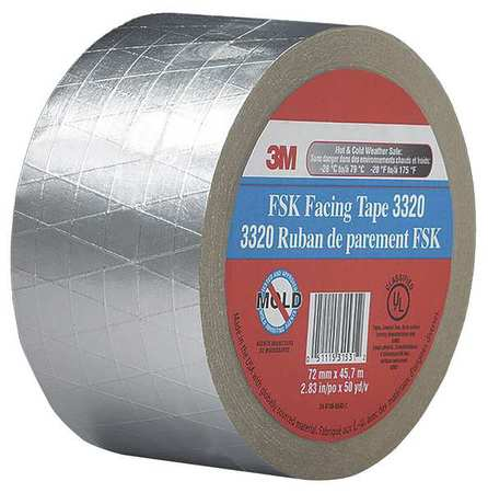 3M 3320 Foil Tape, Silver, 1-7/8 in. x 50 yd.