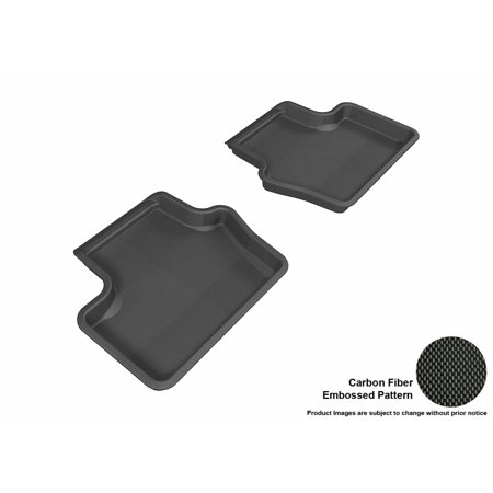 Image of 3D MAXpider 2007-2017 Jeep Compass Second Row All Weather Floor Liners in Black with Carbon Fiber Look
