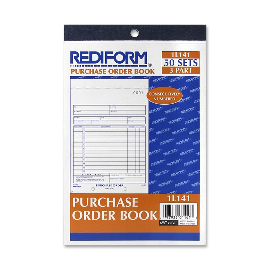 """Rediform Purchase Order Form 50 SHeet[s] 3 Part Carbonless 7.87"""" X 5.50"""" SHeet Size 1each (1L141) by Rediform"""