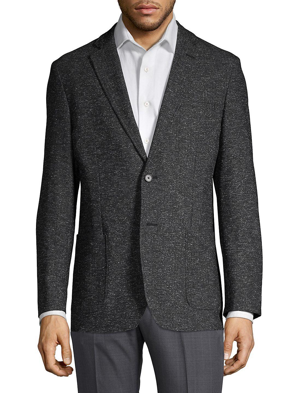 Marled Notch Lapel Sportcoat