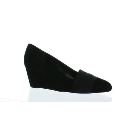 vaneli women's danil black suede wedge 8 m (b)