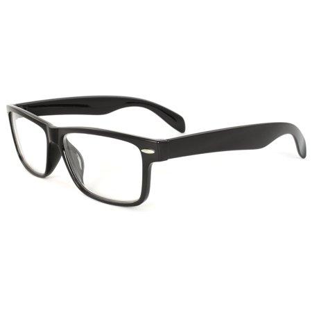 Nerd Sunglasses (Nerd Fashion Sunglasses Black Frame Clear Lenses for Men and)