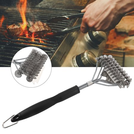 Image of EOTVIA 43cm Stainless Steel Barbecue Brush BBQ Cleaning Brush Cleaner Kitchen Outdoor Camping,Cleaning Brush, BBQ Cleaning Brush