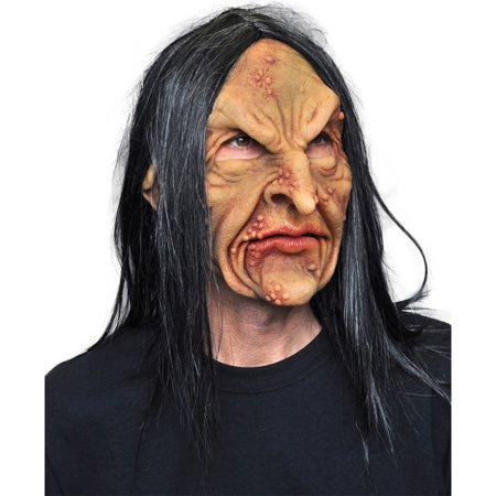 Scary Witch Faces For Halloween (Morris Costumes Deviant Hooked Nose Witch Face Halloween Mask One Size, Style)