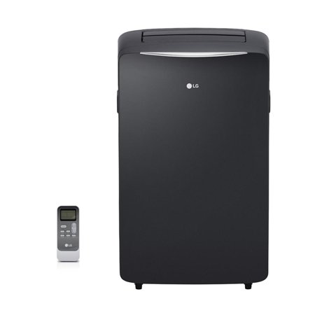 LG 14,000 BTU 115-Volt Portable Air Conditioner with Heat and LCD Remote, Black, Certified